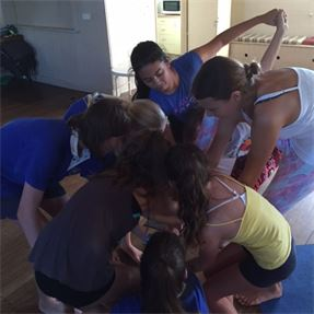 Twisted up Tweens at Mini Buddhas Yoga for schools on the Gold Coast